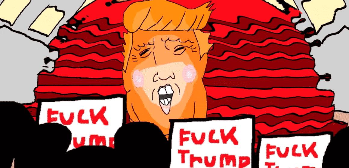 DONALD TRUMP PROTEST CARTOON